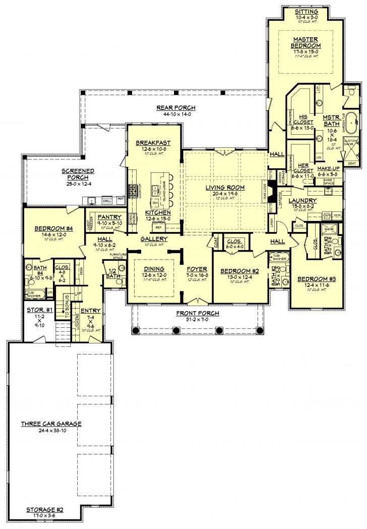 House Plans with Large Living Rooms 2020