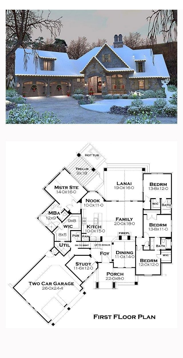 Lake House Floor Plans with Walkout Basement 2020