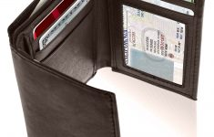 Mens Wallet With Id Window On Outside Beautiful Access Denied Genuine Leather Trifold Wallets For Men Mens Trifold Wallet With Id Window Gifts For Men Rfid Blocking Walmart