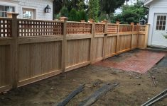 Mossy Oak Fence Prices New Cedar Square Lattice Top Fence With A Universal Tongue And