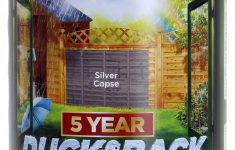 Mossy Oak Fence Prices Unique Cuprinol Ducksback 5 Year Waterproof For Sheds And Fences 5 L Silver Copse