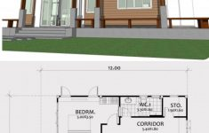 One Bedroom Bungalow Plans Lovely Home Design Plan 12x8m With E Bedroom