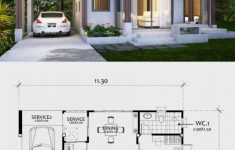 One Bedroom House Plans With Garage New Home Design Plan 11x8m With E Bedroom