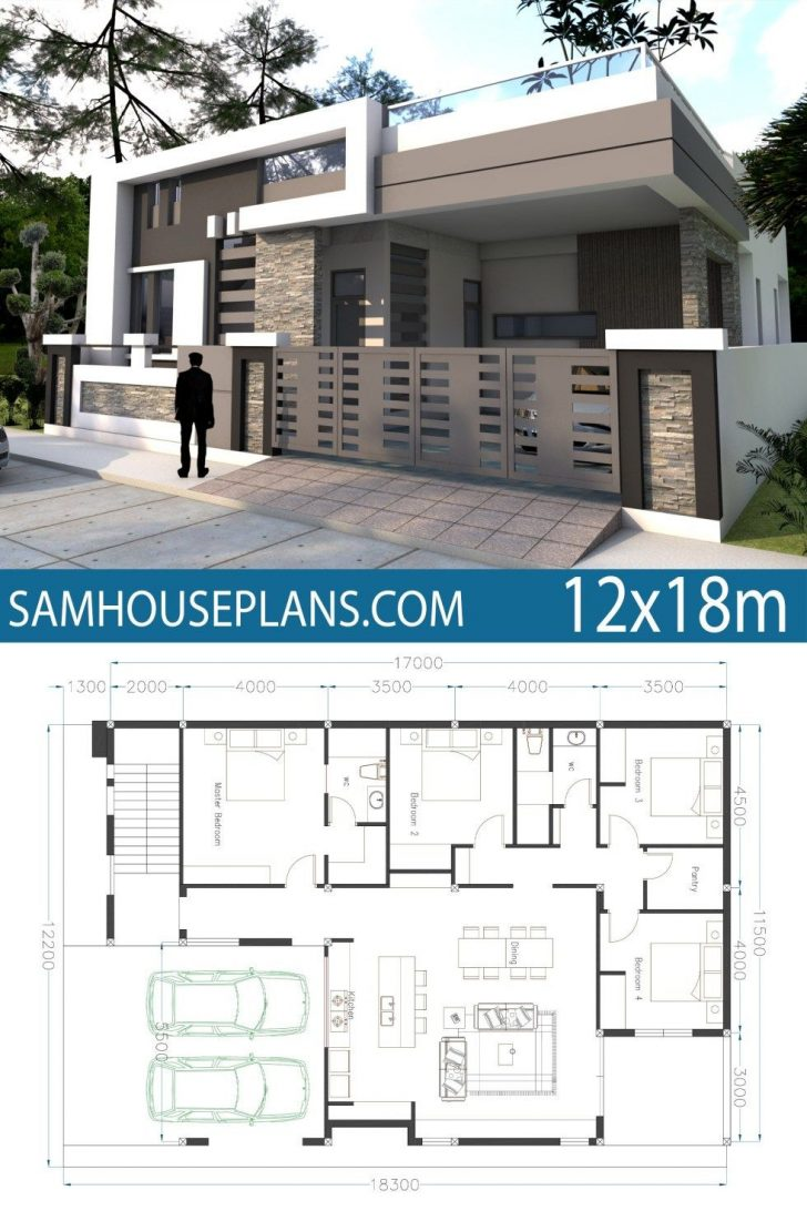 One Story Contemporary Home Plans 2020