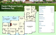 One Story House Plans With Porches Beautiful Plan Hz Classic 3 Bed Country Farmhouse Plan