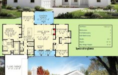 One Story House Plans With Porches New Plan Ge E Story Farmhouse Plan