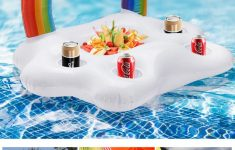 Pool Toy Holder New 2020 Inflatable Drink Cup Holder Clouds Rainbow Pool Floats Swim Ring Pool Toys Beach Island Inflatable Holders Party Toy Ice Bucket From Dream High