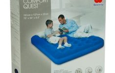 Quest Raised Queen Air Mattress With Electric Pump Lovely Shop Bestway Camping Flocked Air Bed Blue 75 X 54 X 8 5 Inch