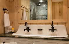 Rustic Bathroom Faucets Awesome Rustic Pine Guest Bathroom Crisp Architects