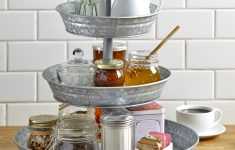 Serving Dishes Walmart Beautiful 3 Tier Rustic Serving Tray Galvanized Metal Kitchen Stand With Farmhouse Style Walmart