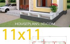 Simple House Plans With Pictures New Simple House Design Plans 11x11 With 3 Bedrooms In 2020