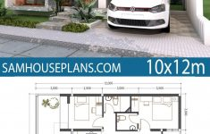 Simple Three Bedroom House Plan Inspirational Home Plan 10x12m 3 Bedrooms In 2019