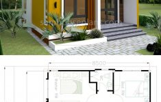 Small House Plans And Designs New House Plans 6 5x8 5m With 2 Bedrooms In 2020