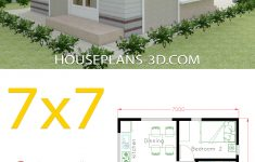 Small House Plans For Sale Unique Small House Design Plans 7x7 With 2 Bedrooms