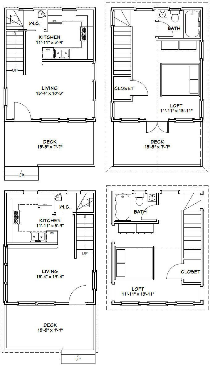 Small House Plans with A Loft 2021