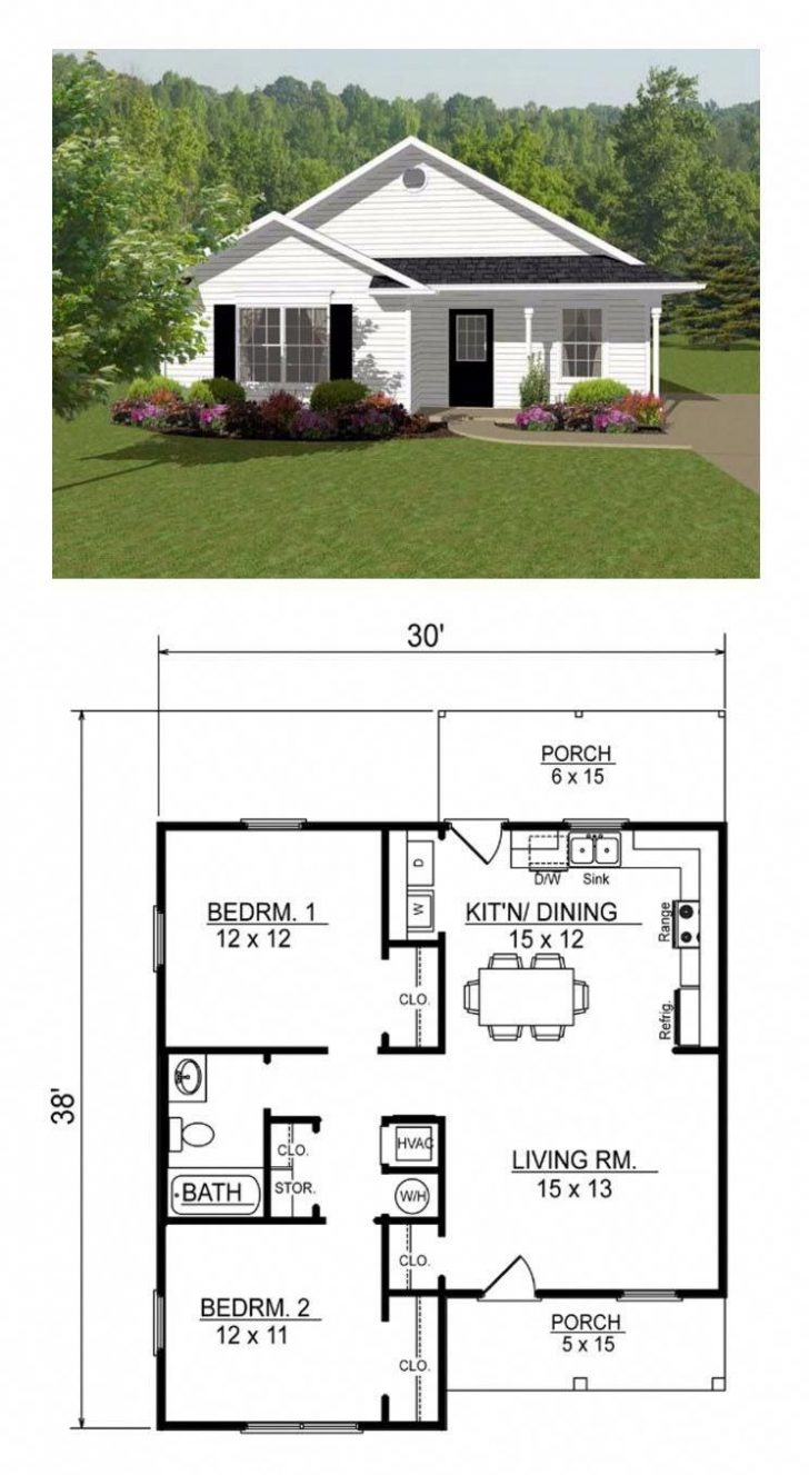 Small House Plans with Open Floor Plan 2020