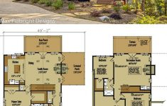 Small House Plans With Open Floor Plan New Small Cabin Home Plan With Open Living Floor Plan