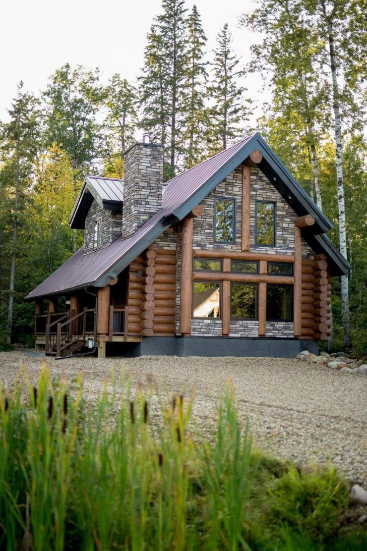 Stone and Log House Plans 2021