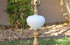 Vintage Milk Glass Lamps Fresh Vintage Wood And Hobnail Milk Glass Lamp With A Rustic Charm