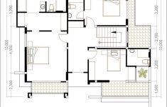 10 Room House Plan Inspirational 5 Bedrooms Modern Home 10x12m