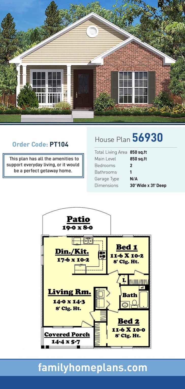 850 Sq Ft House Plans 2020