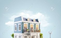 A Beautiful House Image Inspirational Stock Illustration