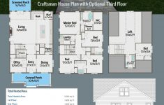 Add On House Plans Unique Plan Ph Craftsman House Plan With Optional Third Floor