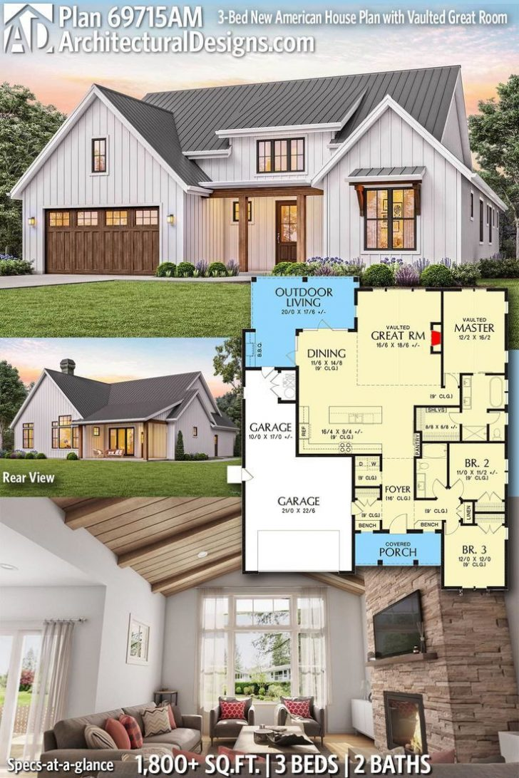 American House Plans with Photos 2020