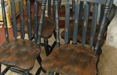 Antique Dining Room Furniture For Sale New Reclaimed Vintage Black Paint Early American Set 4 Dining