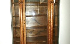 Antique Furniture For Sale Ebay Elegant Antique Tiger Oak Bowed Glass Curio China Cabinet C 1900
