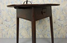 Antique Furniture Small Tables Elegant 18th Century Antique Elm Cricket Table With Drawer