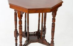 Antique Furniture Small Tables Luxury Small Victorian Arts & Crafts Octagonal Side Table