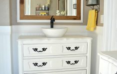 Antique Furniture Turned Into Bathroom Vanity Awesome Old Dresser Turned Bathroom Vanity Tutorial