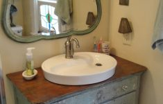 Antique Furniture Turned Into Bathroom Vanity New Shabby Bathroom Distressed Blue Dresser Turned Into A