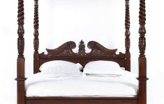Antique Reproduction Bedroom Furniture Unique Solid Mahogany Wood French Queen Anne 4 Poster Bed In 2020
