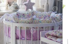 Antique White Baby Furniture Best Of White Cribs For Babies Round Shape Stock Image Image Of
