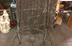 Antique Wrought Iron Patio Furniture Value Unique Vintage Wrought Iron Peacock Chair Rare Style
