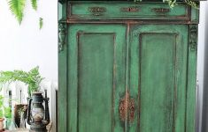 Antiquing Furniture With Paint Elegant How To Paint A Cupboard In Green Antique Style