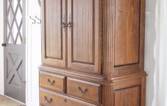 Antiquing Furniture With Stain Elegant Armoire Makeover How To Antique Furniture Love Grows Wild
