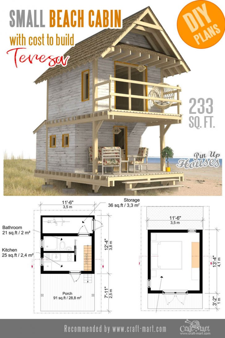 Beach Cabin House Plans 2020