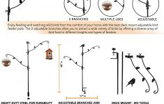 Bird Feeder Holder For Deck Elegant Home X Multi Hook Bird Feeder Pole Deck Kit With Two Adjustable Branches