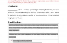 Business Plan Template For Flipping Houses Inspirational Real Estate House Flipping Business Plan Template Sample
