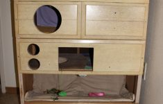 Cat House Plans Outside Lovely Didn T This From Pinterest Homemade Cat House From An