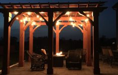 Cedar Gazebo With Metal Roof Lovely Pergola 16x16 Made With Cedar Ourselves With Costco Lights