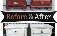 Distressed Antique White Furniture Awesome Distressed Antiqued White Nightstands – Before & After