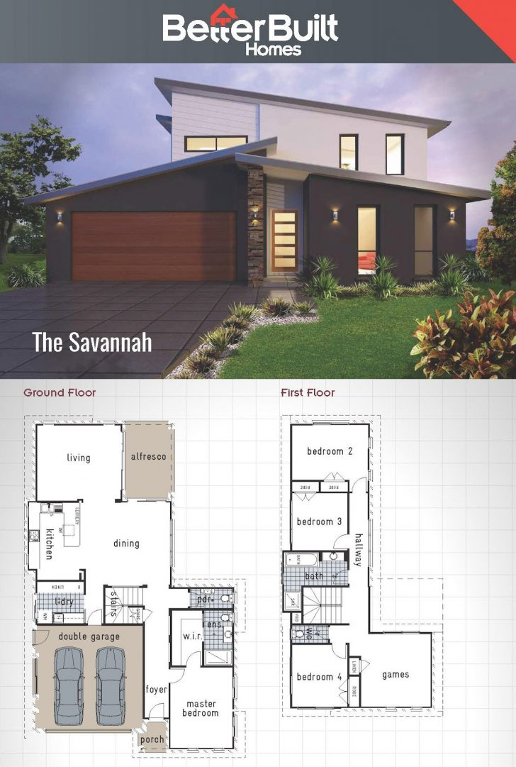 Double Story Modern House Plans 2021