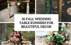 Fall Table Runners To Make Lovely 30 Fall Wedding Table Runners For Beautiful Decor