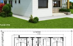 Flat Roof House Designs Plans Awesome Home Design 10x16m With 3 Bedrooms