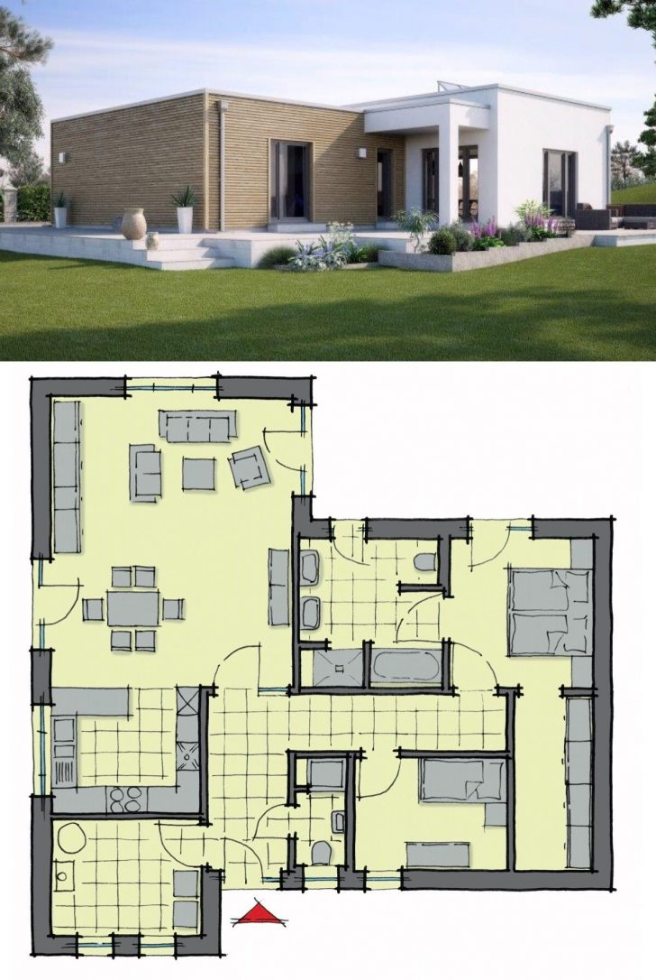 Flat Roof House Designs Plans 2021