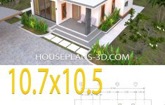 Flat Roof House Plans Ideas Fresh House Plans 10 7x10 5 With 2 Bedrooms Flat Roof House Plans 3d